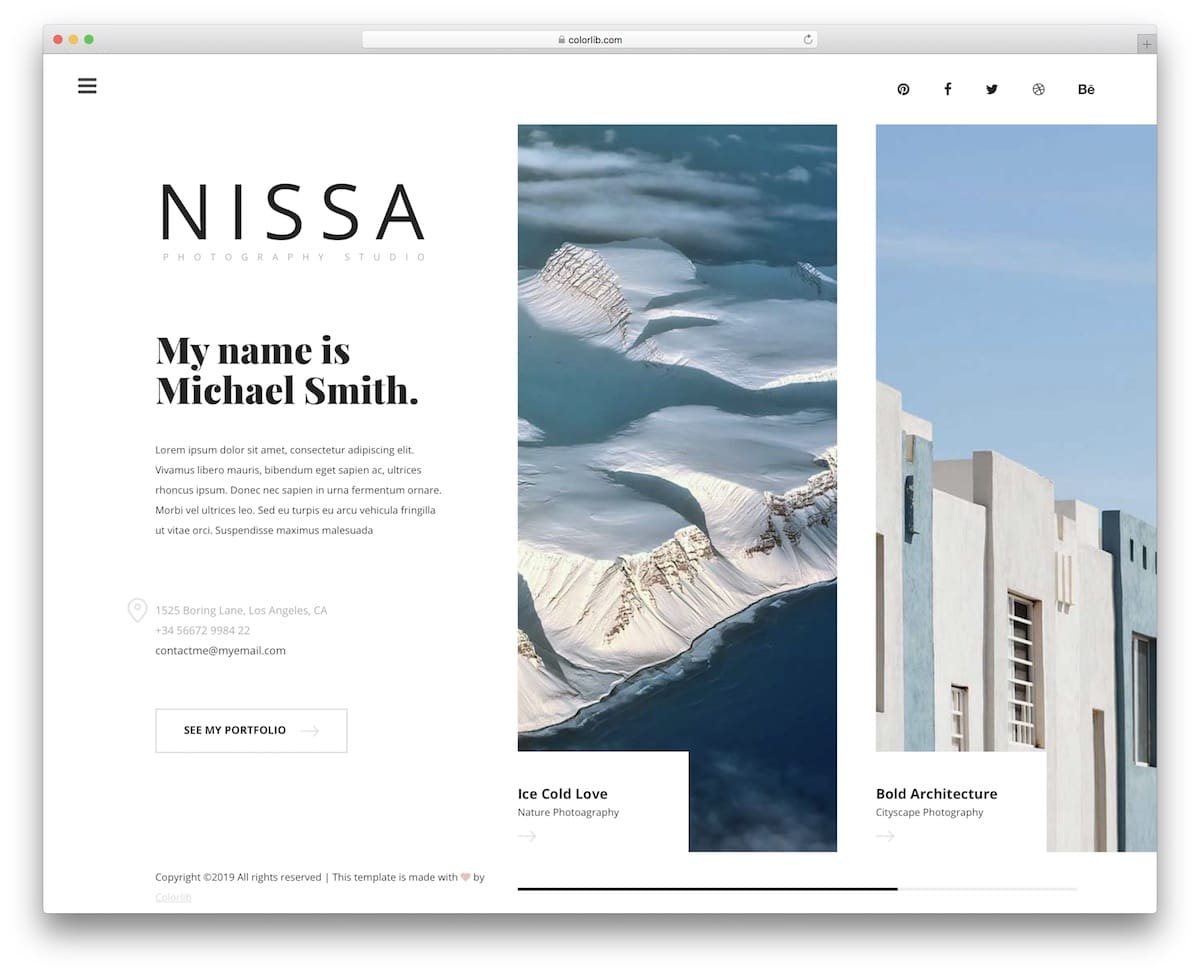 NISA - Photography Website HTML Template