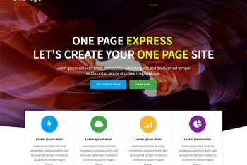 One Page Express – A Free WordPress Theme