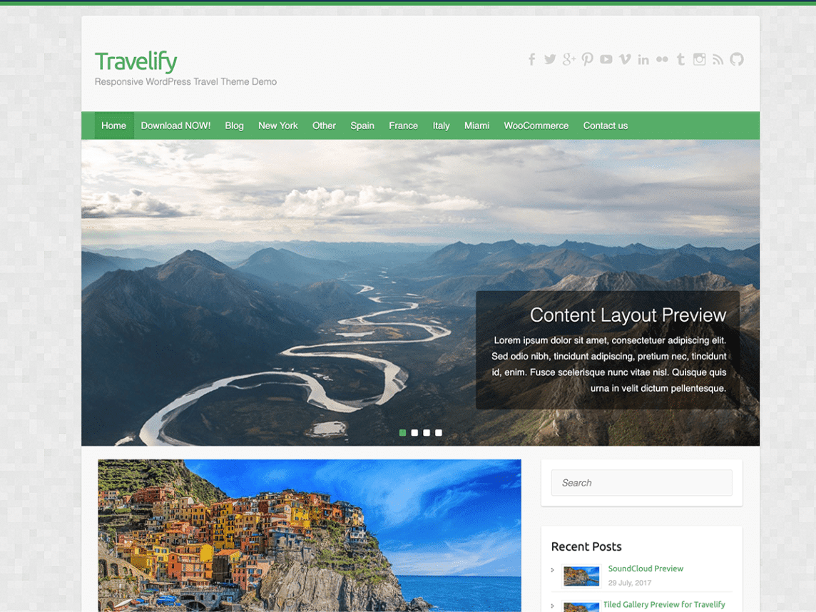 Travelify - WordPress theme for travel websites