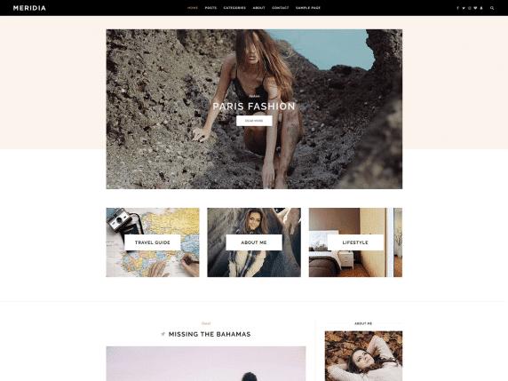 Meridia - a minimal WordPress theme
