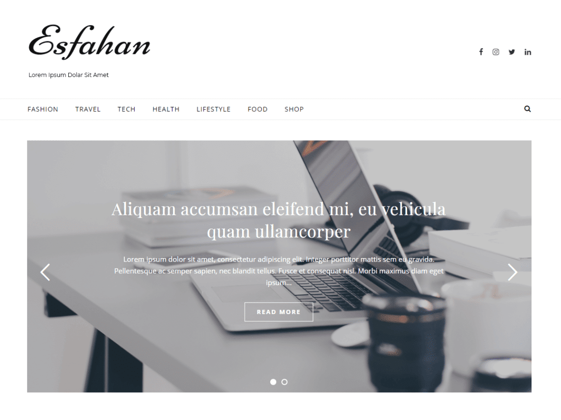 Esfahan – WordPress theme