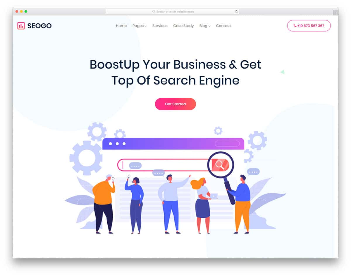 Seogo - Advertising Agency Website HTML Template