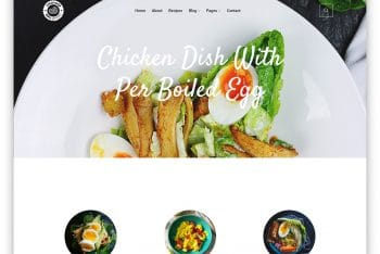 Tasty Recipes- Food Business Website HTML Template