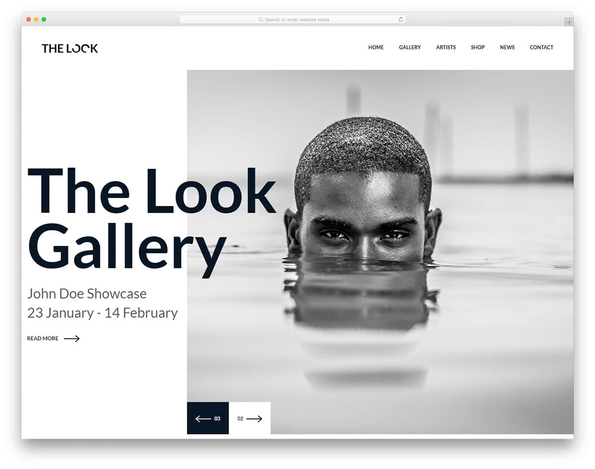 TheLook - Photography Website HTML template