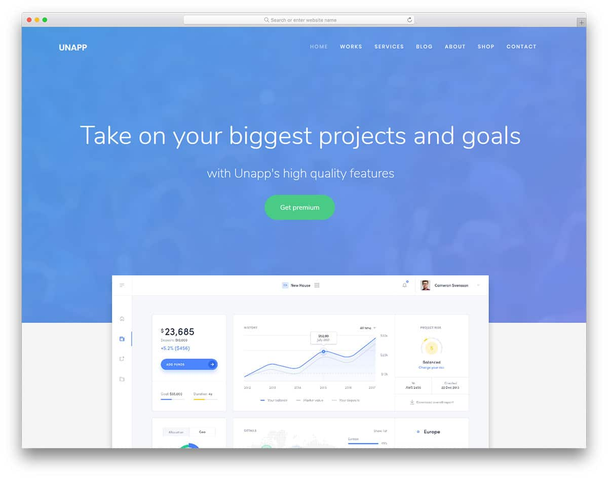 Unapp – HTML template for website