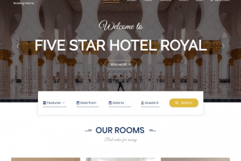 BA Hotel light – Accommodation Booking Website WordPress Theme