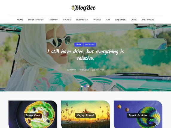 BlogBee- a minimal WordPress theme