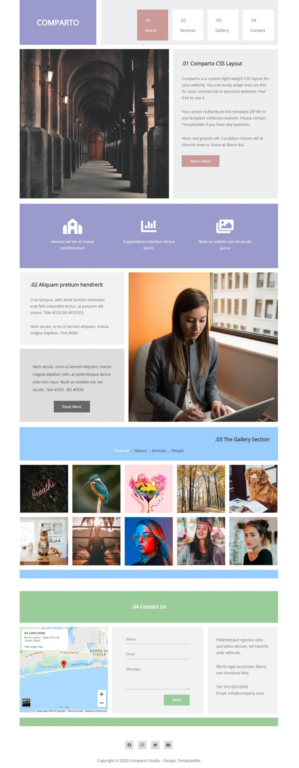 Comparto - Personal Website HTML Template