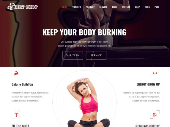 Diet Shop - eCommerce WordPress Theme