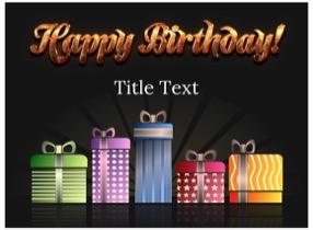 Birthday Keynote template