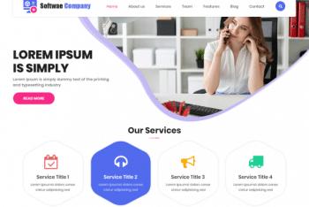 LZ Software Company – Digital Product Website WordPress Theme