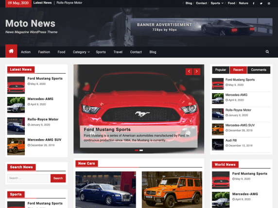 Moto News - News Magazine WordPress theme