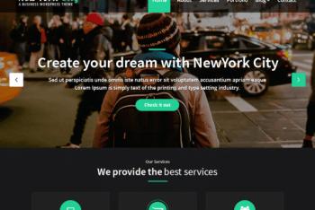 NewYork City – Business Website WordPress Theme Free