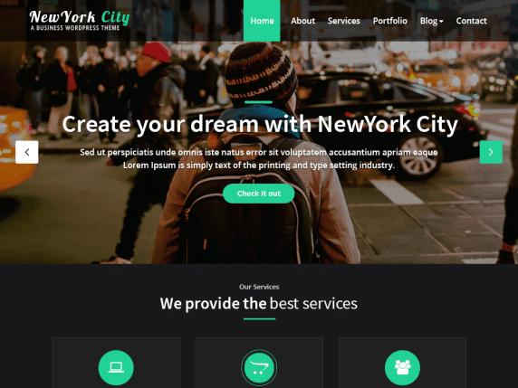 NewYork City - Business Website WordPress Theme