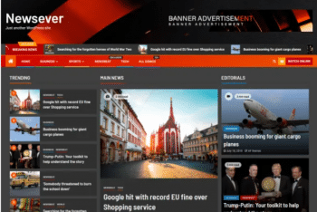 Newsever – News Website WordPress Theme