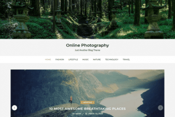 Online Photography WordPress Theme