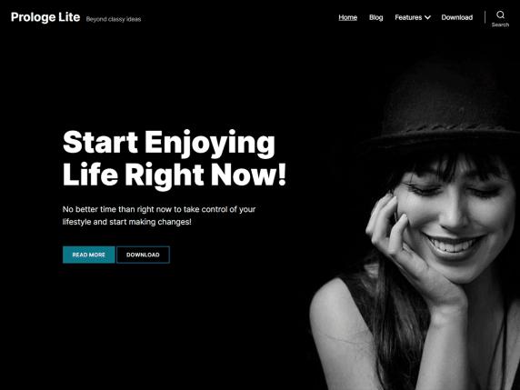 Prologe Lite - blog website WordPress theme