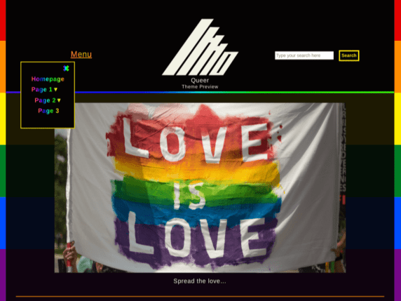 Create beautiful gender-diversity websites witQueer - multipurpose WordPress theme