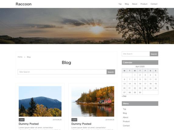 Raccoon - Base WordPress Theme