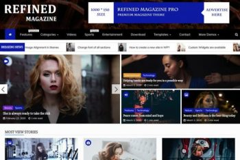 Refined Magazine WordPress Theme