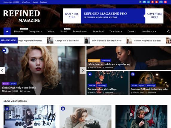Refined Magazine WordPress Theme