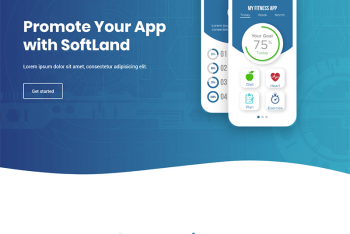 SoftLand – App Landing Page HTML Template