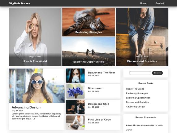 Stylish News - news magazine WordPress theme