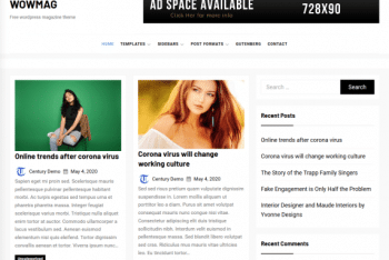WOWMAG – Magazine WordPress Theme