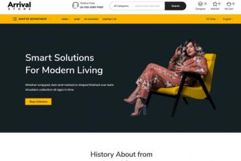 Arrival Store – A Free WordPress Theme