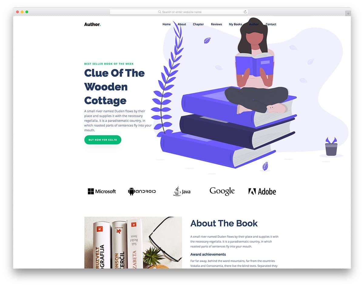 Author - Portfolio Website HTML Template