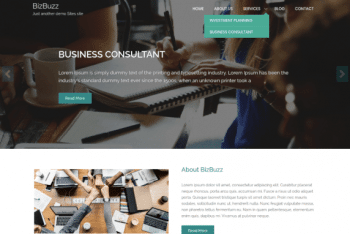 BizBuzz Corporate WordPress Theme for Free