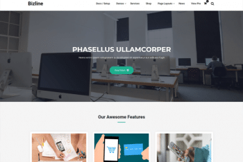 Bizline – A Free WordPress Theme