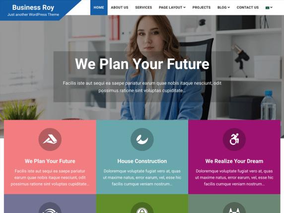 Business Roy - multipurpose WordPress theme