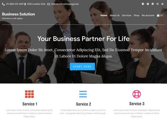 Business Solution WordPress Theme