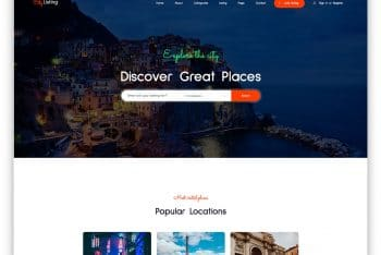 Download CityListing – Directory Website HTML Template