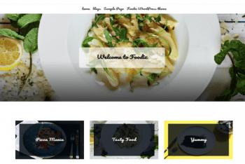 Foodiz – A Free WordPress Theme