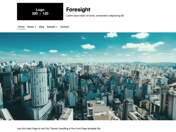 Foresight - business website WordPress theme