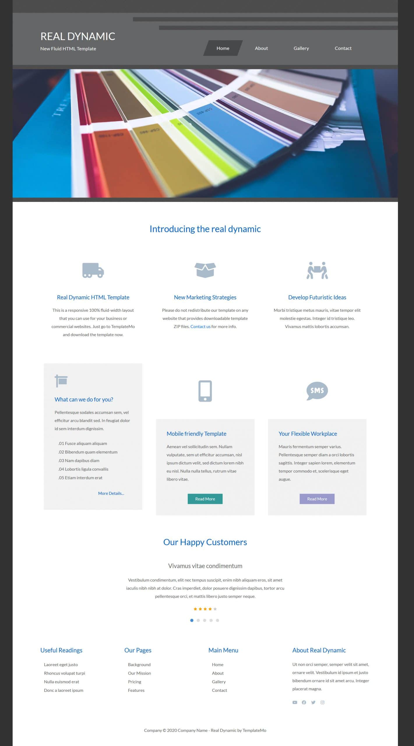 Real Dynamic HTML Template