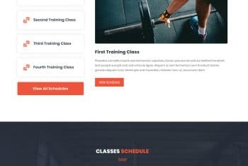 Training Studio- Gym/Fitness Website HTML Template