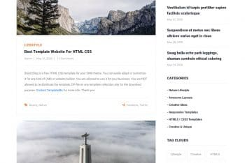 Stand Blog – Free Blog Website HTML Template