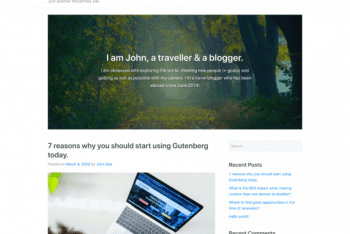 GutenStart – News Website WordPress Theme