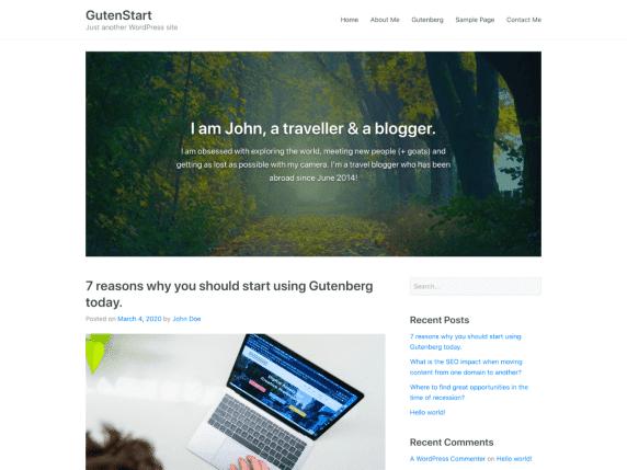 GutenStart - news website WordPress theme
