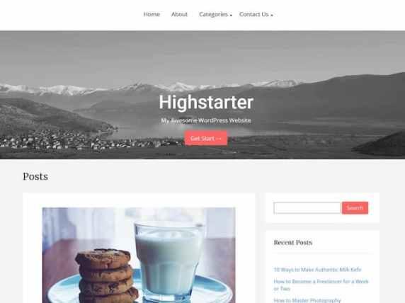 Highstarter - simple website WordPress theme