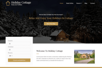 Holiday Cottage – A Free WordPress Theme