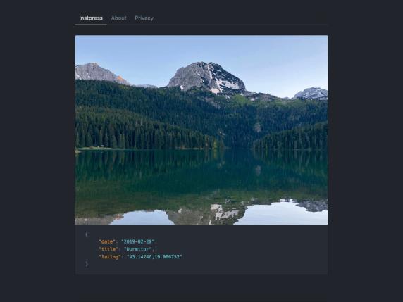 Instapress - photosharing website WordPress theme