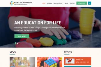 Kids Education Soul – A Free WordPress Theme