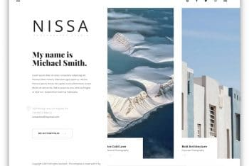 Download Nissa – Photography Website HTML Template