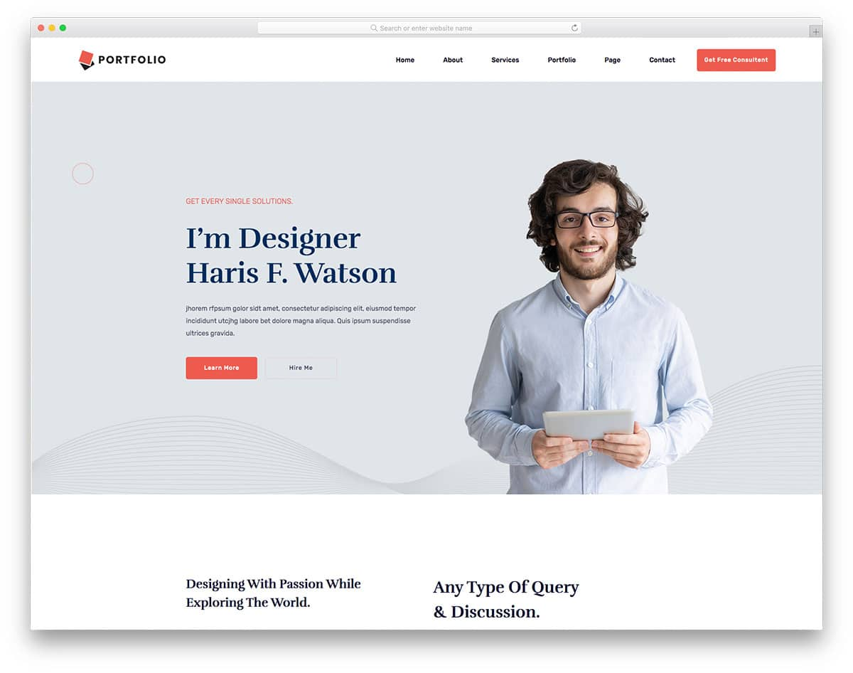 PersonalPortfolio - HTML template for personal website
