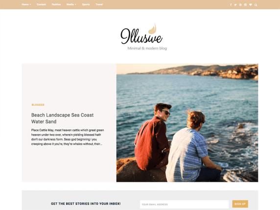 Illusive - clean WordPress blog theme