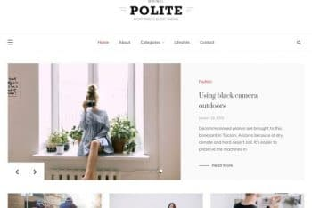 Polite WordPress Theme – A Blog/Magazine Website Theme